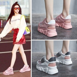 OLOMM 2019 sandalias ocasionales de las mujeres atractivas damas zapatos de tacón alto sandalias gruesas señoras del verano de zapatos de cuña TD-92
