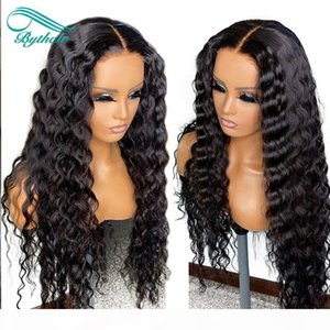 Bythair Full Lace Human Hair Wigs For Black Women Brazilian Deep Wave Glueless Lace Front Human Hair Wigs With Baby Hairs