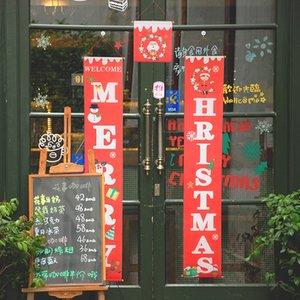 Рождество Открытый Couplet Висячие ткань Новогоднее украшение Supplies Рождество Atmosphere ткань Гобелен двери Украшение для партии