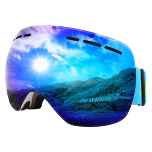 Ski Goggles Double Layers Lens Brand Snowboard Goggles Anti-fog UV Protection Winter Snow Goggles Helmet Compatible Skiing Mask Magnet OTG17