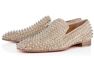 Fashion Luxury Designer Black Glitter Spikes Studded red bottom Oxford Loafers Shoes Men Flats Wedding Party Gentlemen Dress Oxford Shoes