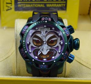 La autorización original de la marca DC Comics Joker conjunta de producción del modelo: 26790 30063 reloj de los hombres del cronógrafo de cuarzo + caja original