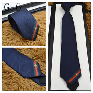 Le plus récent des liens de design de luxe de haute qualité 100% soie cravate mode de la marque 7 cm casual liens étroits hommes de la marque édition classique bateau rapide