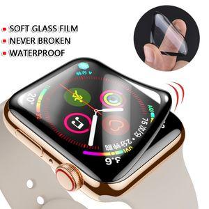 3D غطاء كامل للماء شاشة PET واضح ووتش حامي لأبل ووتش سلسلة 1 2 3 4 5 لأبل iwatch 38MM 40MM 42MM 44mm و