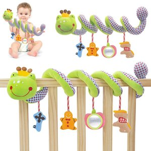 Kidlove Carton Frog Prince Pacifier Hanging Spiral Toy for Baby Bed and Stroller