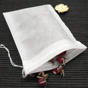 Medcine Bags Multifunction Tea Bags Non-woven Seal Filter Drawstring Pouch Cook Herb Spice Tools Coffee Pouches 50Pcs Lot