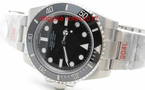 Mens Top Quality Watch ZZF Factory 114060LN 114060 NO Date 904L SS / SS ZZF ETA 3130 Uni-directionnelle plongeur céramique lunettes mécaniques montres mécaniques