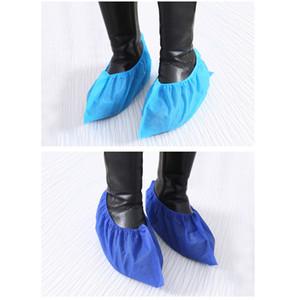 100 pedazos / porción de la cubierta del zapato desechable no tejidas Inodoro impermeable antideslizante cubierta del zapato Orotective la cubierta del zapato XD23291