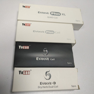 Authentic Yocan Replacement Coils For Yocan Evolve Evolve Plus Wax Vape Pen Evolve-D QDC Quartz Dual Coil