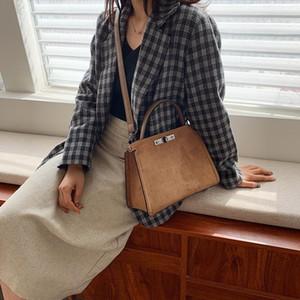 tiendas de diseño de fábrica-2019 nuevo temperamento de invierno bolsa de mensajero femenino de cuero mate salvaje mujer del bolso de hombro