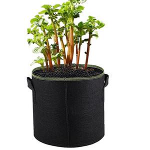 2 / 5pcs pianta coltiva Borse crescente Borse tessuto non tessuto aerazione Pentole con manico Root Container 1/2/3/5/7/10/15/20/25 Galloni