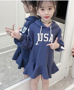 5250 rote Spitze-lange Hülsen-Prinzessin Party A-line Kid Dresses für Baby-Frühlings-Kind-Kleidungsgroßverkauf scherzt Kleidung