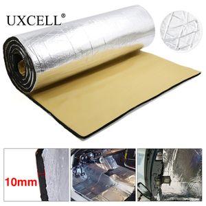 Son isolation thermique Coton Uxcell 10 mm d'épaisseur en aluminium fibre Silencieux coton Voiture Auto Fender Heat Mat Isolation acoustique deadener