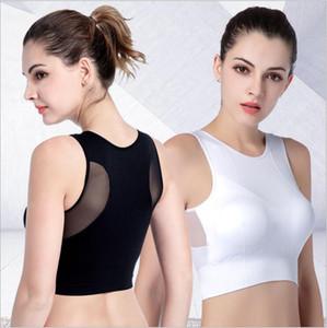 Yomay donna traspirante Sport Vest Fast Dry elastico antiurto imbottito Palestra funzionare reggiseno solido di colore Fitness Yoga Sport Top Bra