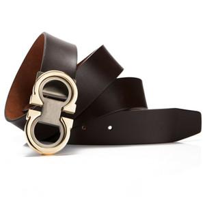 Nueva lujo de los hombres de la moda, correa de cuero genuino real de vestir cinturones de diseño ajustable de la longitud 125cm Blet por el ajuste hasta ajustar el envío libre