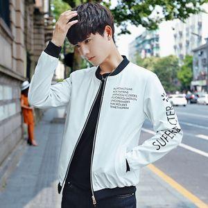 Collar Primavera e Outono New Style Men Baseball Brasão Impresso por letras Juventude Origional Hong Aceno Jacket homens