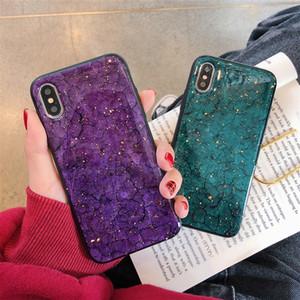 Retro folha de ouro mármore phone case para iphone xs max xr 8 7 6 s 6 plus tampa traseira moda abstrata casos de luxo arte coque