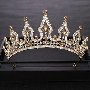 Vintage Silver color Crystal Tiara Bride Diadem Wedding Crown Beauty pageant Dress Headpiece Jewelry Wedding Hair Accessories