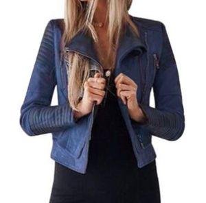 Die Frau Winter hochwertige Waren Han-Version neue Fonds Mode Trend Individualität schlanken Körper hält die reine Farbe Ledermantel / S-3XL warm