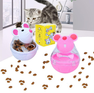 Yeni Pet Kedi Eğlence Tumbler Besleyici Oyuncak Fare Leaking Gıda Toplar Pet Eğitici Oyuncaklar Pet Kaçak Cihaz Komik Kedi Interactive Toy 2 Renkler