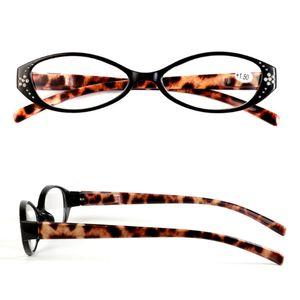 4 Colors Resin Cat Eye Leopard Print Men Women Reading Glasses Readers Presbyopia +1.00, +1.50, +2.00, +2.50, +3.00, +3.50