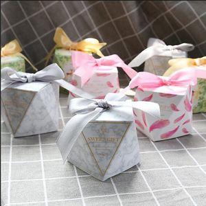 50 pcs Caixa de Doces Forma de Diamantes Favores Do Casamento e Caixas de Presentes Decoração de Festa de Aniversário para Os Convidados Do Presente Do Chuveiro de Bebê Sacos C1119
