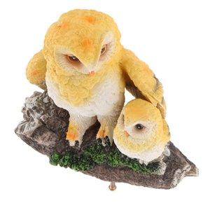 Realistico Gufo Animal Statue Casa Giardino Decorazione Simulazione Owl artificiale