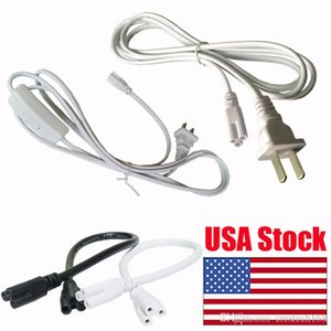 T5 T8 Led Lamp connecting wire 2ft 60cm white integrated two head cable three proung connector table cable connector