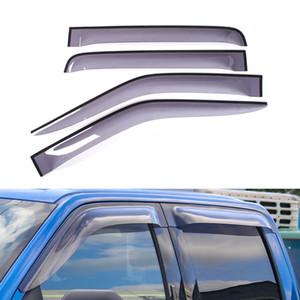 Ford F150 15+ Araba Pencere Visor Rüzgar Deflektör Yağmur Güneşlik Kalkanı Kapak ABS Tenteler Barınakları Kapak Otomobil Aksesuar
