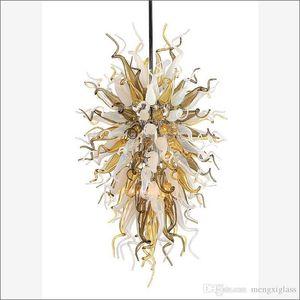 Cristal decoración pendiente de la luz soplado 110v / 120v Bombillas LED estadounidense Chihuly Estilo soplado alumbramientos lámpara de cristal