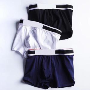 New Mens Boxer Briefs Cueca Man Sports Underpanties Sexy Cotton underwear masculino respirável Algodão Underwear 3pcs com caixa