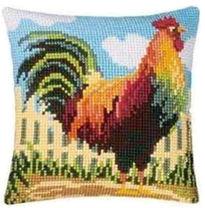 chicken Latch Hook Rug Kits Segment Embroidery Pillow Wool Cross Stitch Carpet Embroidery DIY Latch Hook Pillow