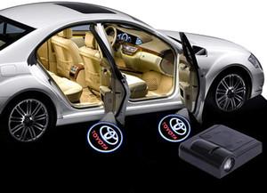 2 pezzi auto senza fili di benvenuto della lampada, del proiettore di marchio dell'automobile LED Laser Porta Attenzione Luce, Luce dell'ombra del fantasma per TOYOTA (TOYOTA)
