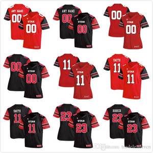 Custom Mens Youth Utah Usa qualsiasi nome Qualsiasi numero Personalizzato Kids Man Away NCAA College Football Maglie