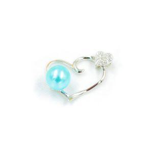 S925 Kalp İnci kolye kolye Ayar Montaj Tabanı% 100 Katı 925 Gümüş Yarı Dağı Kadın Takı DIY Bulguları DZ039