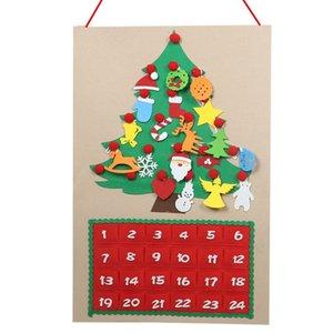 Árvore ABFU-Christmas Felt Advent Calendar Countdown to Christmas caseiro Advent Calendar Decoração do partido