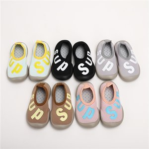 2020 Spring And Autumn BABY'S Shoes Lettered Ultra-stretch Soft-Sole Anti-slip Breathable BABY'S Shoes Baby Toddler Shoes