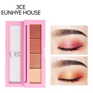 Free Ship 3CE EUNHYE HOUSE 4 Colors Eyeshadow Palette Make up Kit Eye Shadow Nude Matte Natural Shimmer Eye Primer Cosmetics Tools SG1602