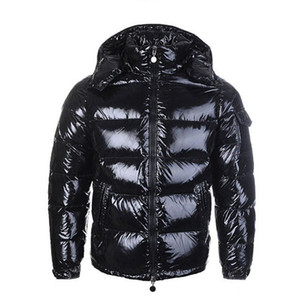 progettista inverno uomini di marca leggeri francesi del piumino rosso sport all'aria aperta impermeabile strada tendenza cappotto degli uomini nero lucido