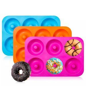Silicone Donut bacia Donut Criador Asse Mold Para O Cozimento doce cor Fondant Silicone Cake Molds Fácil deslizamento Mini Pão Mold
