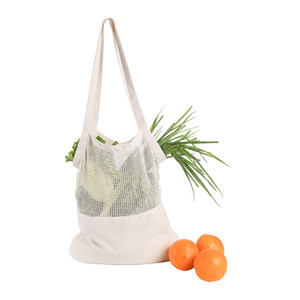 Хозяйственные сумки Хлопок Mesh Продуктовые сумки многоразового Овощной Фрукты свежие сумки