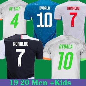 JUVENTUS soccer jersey RONALDO DYBALA jersey 19 20 21 PALACE football shirt DE LIGT HIGUAIN Kids kit soccer uniforms