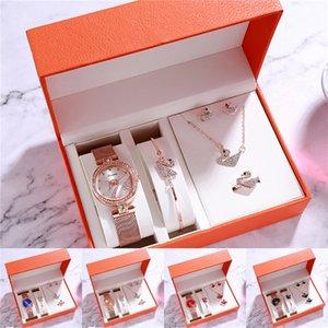 2020 New Women Fashion Watches Mesh Steel Band Watches Quartz Casual Wristwatches Set Watch Ladies Dress Wrist Watch Clock Accessories Gi#834
