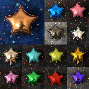 20 Color Five-Pointed Star Monochrome Aluminum Film Ballon 18 Inch Birth Birthday Party Event Decoration Supplies XD23346