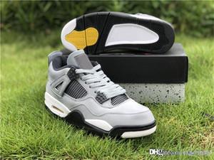 2019 جديد أصيلة 4 بارد رمادي كروم الظلام الفحم اسكواش الذرة رحلة 4S رجل أحذية أحذية رياضية 308497-007 مع مربع