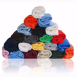 100% хлопок сплошной цвет пустой футболка оптом 16 цветов Мужчины Женщины хлопок футболки круглый вырез основной простой круглый футболка мода топы тройники