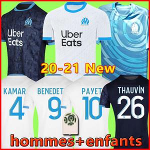 19 20 maglia da calcio Olympique de Marseille maglie OM 2019 2020 maglia da calcio PAYET THAUVIN maglia da calcio 120 anni 120 ° anniversario