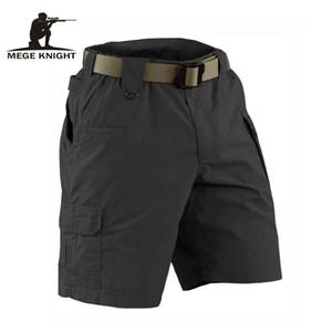MEGE CAVALIERE estate di marca militare Campo tattici pantaloncini casuale solido per gli uomini Multi-pocket di combattimento dell'esercito di Ripstop di lavoro Breve T191223