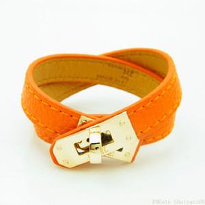 Vintage Multicouche Pu En Cuir H Bracelets pour Femmes Marque Charme Manchette Bracelets Hommes Or Boucle Bracelet Pulseras Bijoux Cadeau De Noël