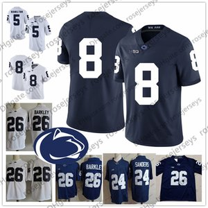 Penn State Nittany Lions # 5 DaeSean Hamilton 8 Allen Robinson 24 Meilen Sanders 40 Jason Cabinda 88 Mike Gesicki Blau Weiß PSU Jersey